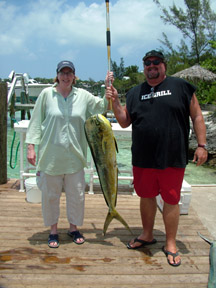 steve and his sister with nice dorado